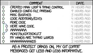 Git commit // xkcd